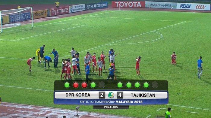 HASIL Piala Asia AFC U16, Cuplikan Gol Korea Utara Vs Tajikistan dan Skor Adu Penalti
