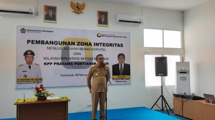 KPP Pratama Pontianak Timur Canangkan Zona Integritas Kawasan Bebas dari Korupsi
