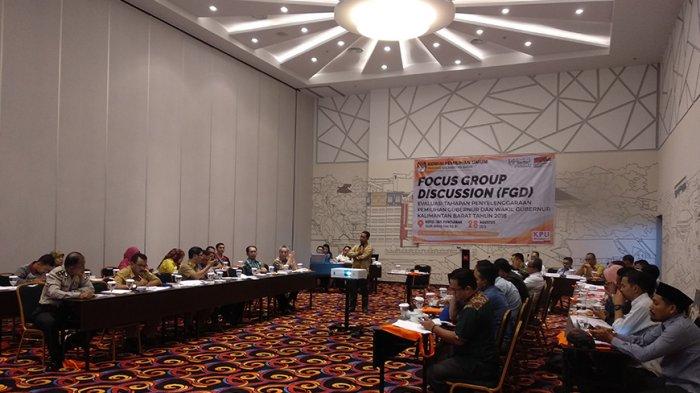 KPU Gelar FGD Evaluasi Penyelenggaraan Pilgub Kalbar 2018