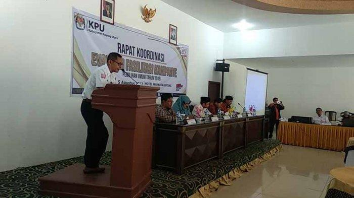 KPU Kayong Utara Gelar Rakor Evaluasi Pemilu 2019