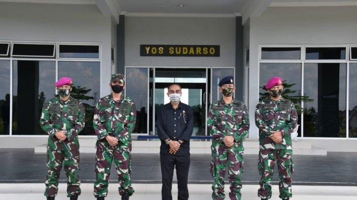 Anggota Komisi I DPRRI Krisantus Kurniawan Kunjungi Lantamal XII di Kabupaten Mempawah