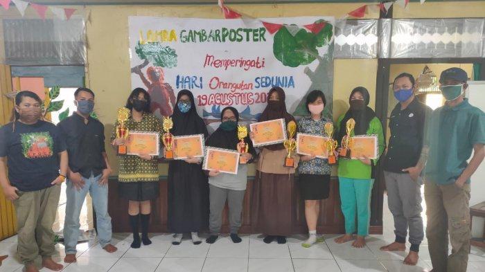 Daftar Pemenang Lomba Menggambar Poster Hari Orangutan Internasional 2020 Yayasan Palung