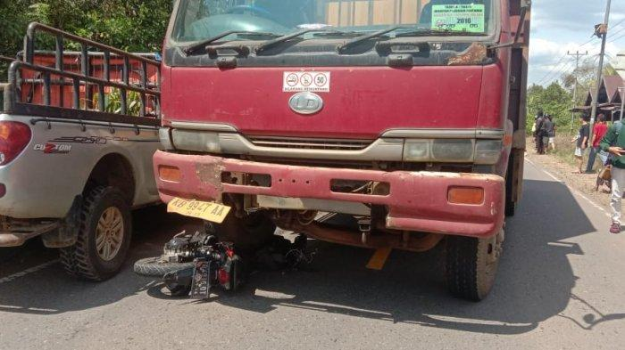 Terlindas Truk Trailer di Jalan Trans Kalimantan Ambawang, Pengendara Motor Meninggal di Tempat