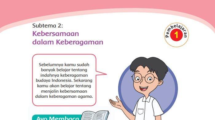 KUNCI Jawaban Tema 1 Kelas 4 Halaman 77 78 79 80 81 82 84 85 Subtema 2Kebersamaan dalam Keberagaman