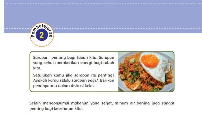 KUNCI JAWABAN Tema 3 Kelas 5 Halaman 12 13 14 15 16 17 18 19 Subtema 1 Pembelajaran 2 Makanan Sehat