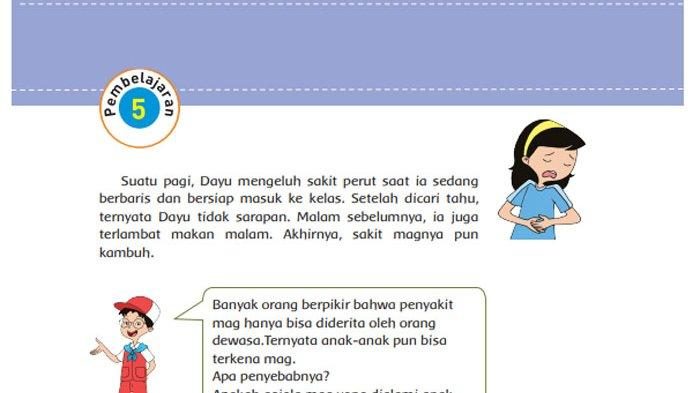 KUNCI JAWABAN Tema 3 Kelas 5 Halaman 34 35 36 37 38 39 Subtema 1 Bagaimana Tubuh Mengolah Makanan?