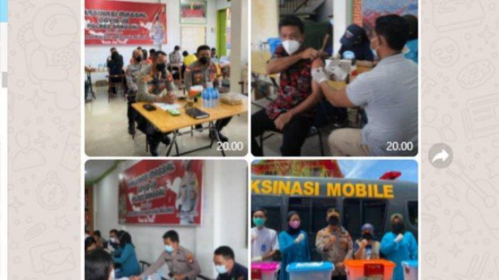 Kapolres Sanggau AKBP Ade Kuncoro Ridwan Pantau Kegiatan Vaksinasi di Yayasan Bhakti Sentosa