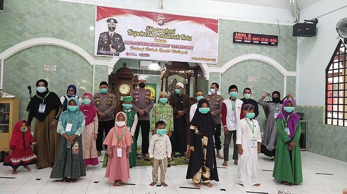 Dikunjungi Para Anak Yatim dari Lembaga GPAY, Kapolresta Pontianak : Alhamdulillah Ini Berkah