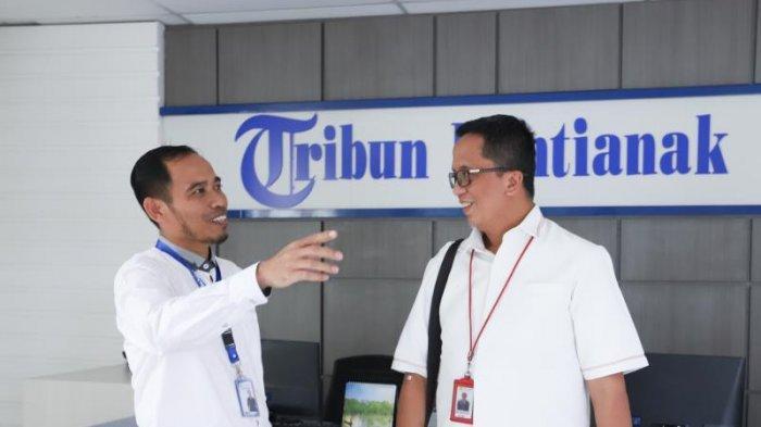 FOTO: GM PLN UIW Kalimantan Barat, Agung Murdufi saat Berkunjung ke Kantor Tribun Pontianak - kunjungan-pln3.jpg