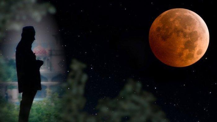 Lafadz Niat Solat Gerhana Bulan, Tata Cara Pelaksanaan Salat Gerhana Bulan dan Doa Sholat Khusuf
