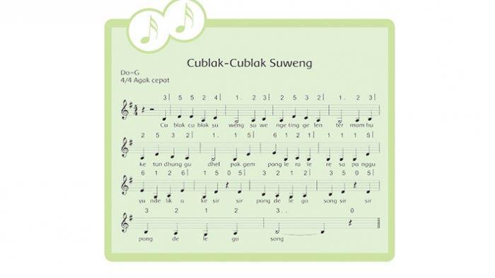 Lagu cublak-cublak suweng.