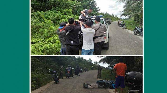Laka Tunggal Renggut Nyawa Pengendara Sepeda Motor di Jalan Raya Kuala Behe