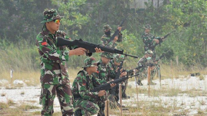 Sekitar 80 Prajurit Korem 121/Alambhana Wanawai Laksanakan Latihan Menembak