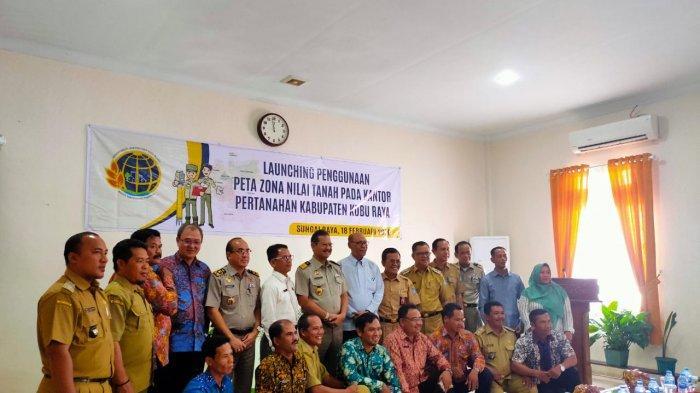 Pertama di Kalbar, BPN Kubu Raya Launching Aplikasi Peta Zona Nilai Tanah, Lima Kecamatan Siap