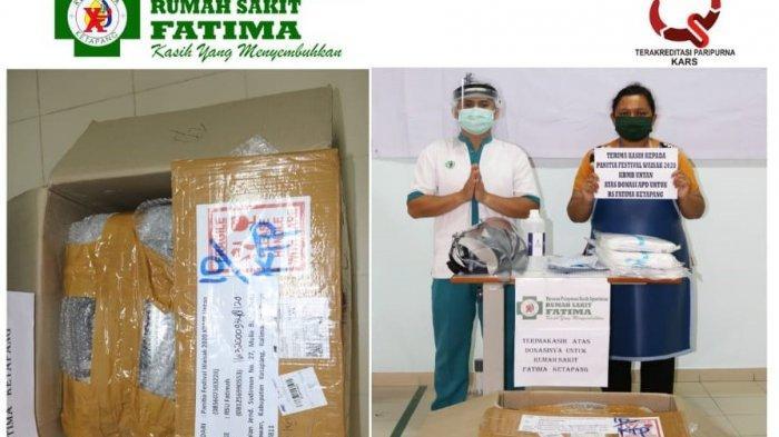 Lawan Corona, Panitia Festival Waisak 2020 KBMB Untan Donasikan Face Shield