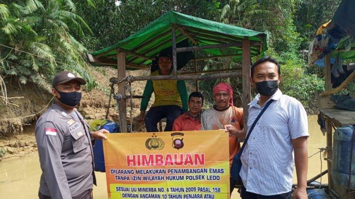 Polsek Ledo Sosialisasi Peraturan Serta Larangan Pertambangan Tanpa Izin kepada Warga