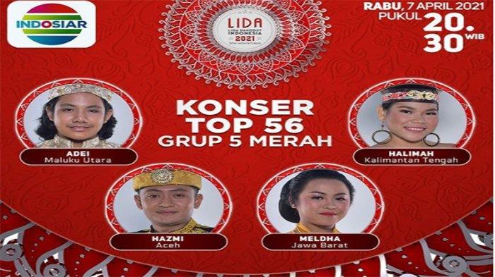 JADWAL LIDA Grup 5 Merah Rabu 7 April 2021 Live Indosiar ...