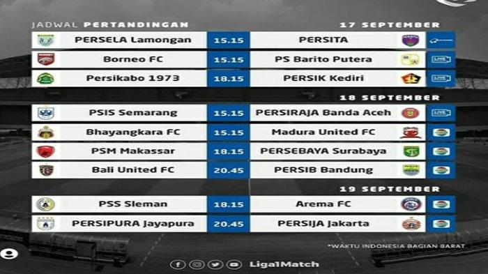 JADWAL BRI Liga 1 Indonesia 2021 Live Indosiar Persib Bandung vs Bali United, Persija vs Persipura