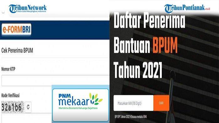 Link Cek Bansos BNI Mekar Tahap 3 Pencairan September 2021 Akses eform.bri.co.id/bpum