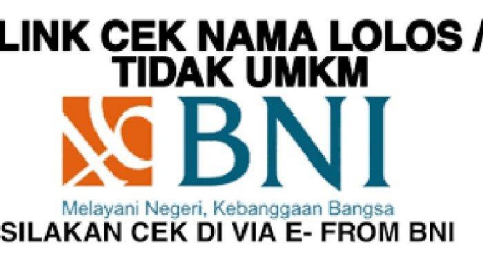 Link Download SPTJM BPUM BNI dan SPTJM BPUM BNI Syarat Pencairan Banpres UMKM 2021 Rp 1,2 Juta