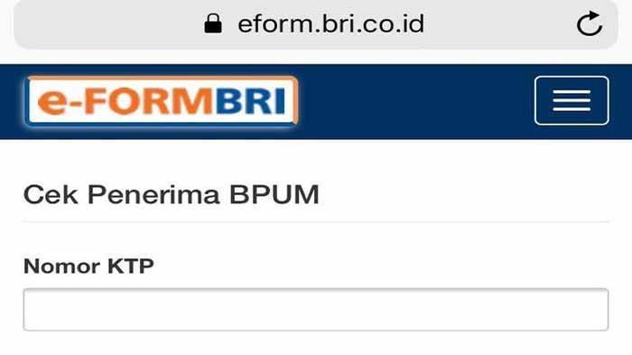 Link Eform BRI BPUM 2021 Rp 1,2 Juta, Login Kemenkopukm.go ...