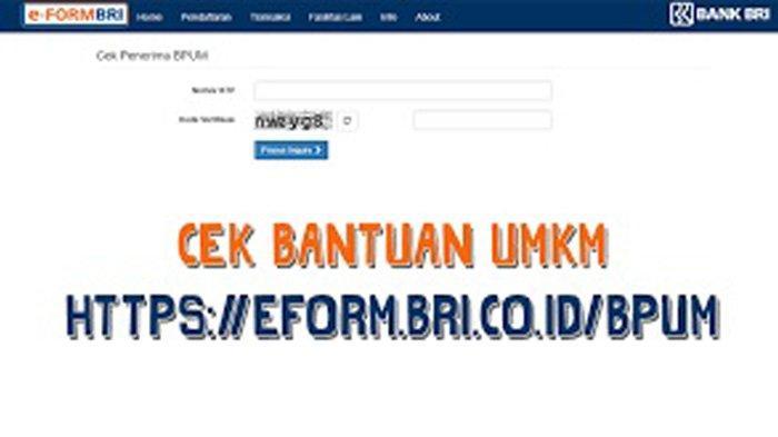 Link Eform BRI Co Id BPUM Login www.depkop.go.id Daftar BPUM BRI 2021 Klik eform.bri.co.id/bpum