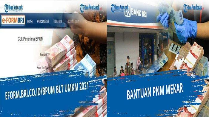 Link Eform BRI UMKM 2021 Tahap 3 Login eform.bri.co.id/bpum Cek Penerima Banpres PNM Mekar Tahap 3