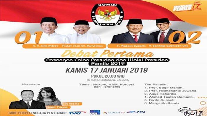 Link LIVE STREAMING Debat Capres Jokowi Vs Prabowo, Ini Curahan Hati Ira Koesno Moderator Debat
