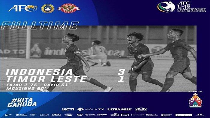 HASIL Timnas U-19 Vs Hongkong Kualifikasi Piala Asia U-19 2020 | Fajar Fathur Rahman Bikin Gol Lagi