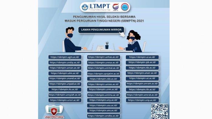 Link Pengumuman SBMPTN 2021 Terbaru dari LTMPT dan Cara Melihat Hasil Pengumuman SBMPTN 2021