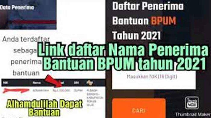 Daftar Penerima BPUM Bank BNI Mekar Login https://banpresbpum.id Klaim Bantuan Rp 1,2 Juta