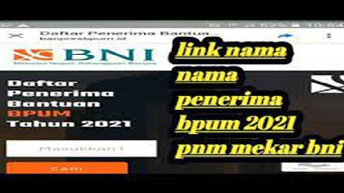 Link Pengumuman Penerima BPUM Gelombang 3 Login https://banpresbpum.id Cek Nama Penerima PNM Mekar 3