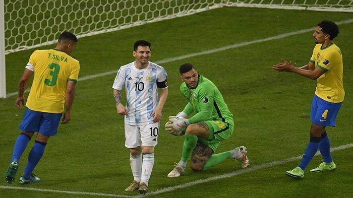 LIVE HASIL Brazil vs Argentina Final Copa America Sekarang Update Gol Argentina vs Brazil Juara