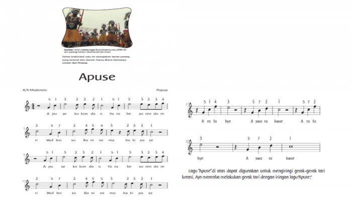 Lirik lagu Apuse dan Papua.