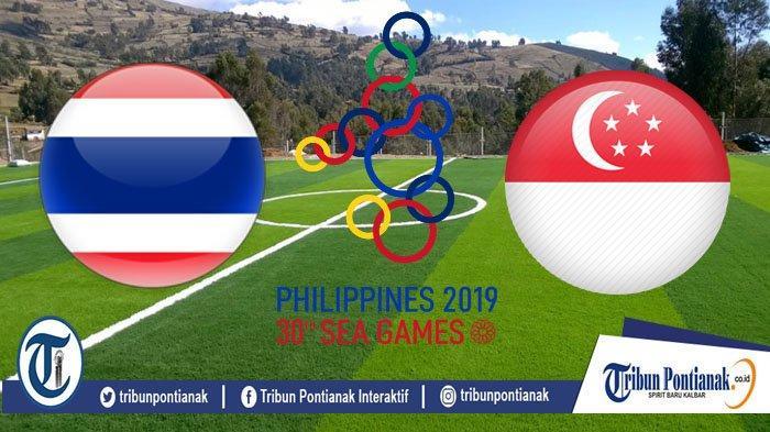 LIVE BOLA SEA Games Thailand Vs Singapura Pukul 15.00 WIB, Pengaruhi Klasemen Indonesia Vs Vietnam