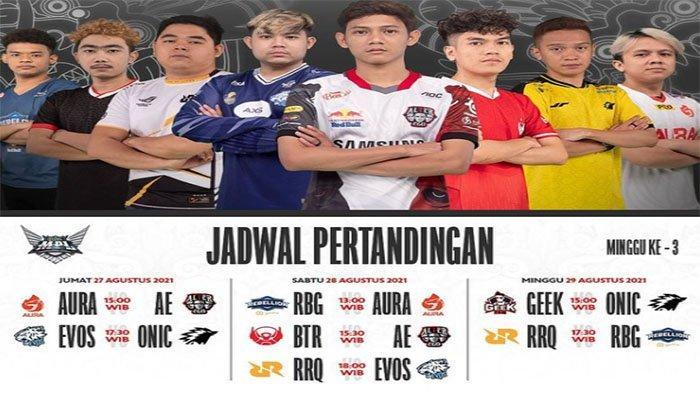 LIVE El Clasico RRQ Hoshi Vs EVOS Legends di Jadwal Lengkap Jam Tayang MPL ID Season 8 Pekan Ketiga