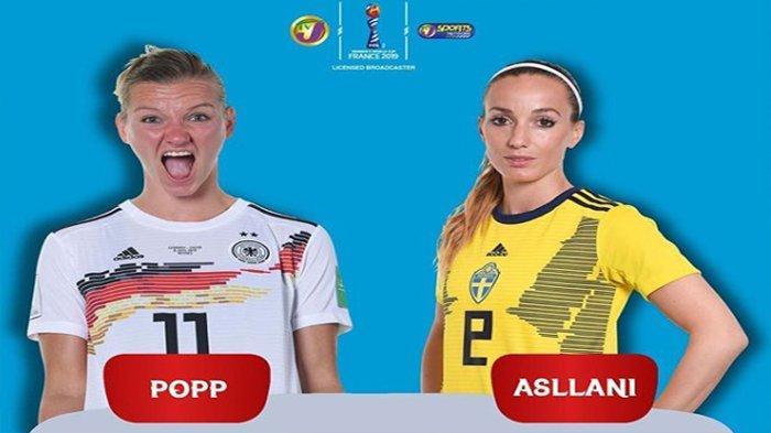 LIVE Germany Vs Sweden Quarter Final World Cup Women 2019   Belanda Tunggu Pemenang di Semifinal