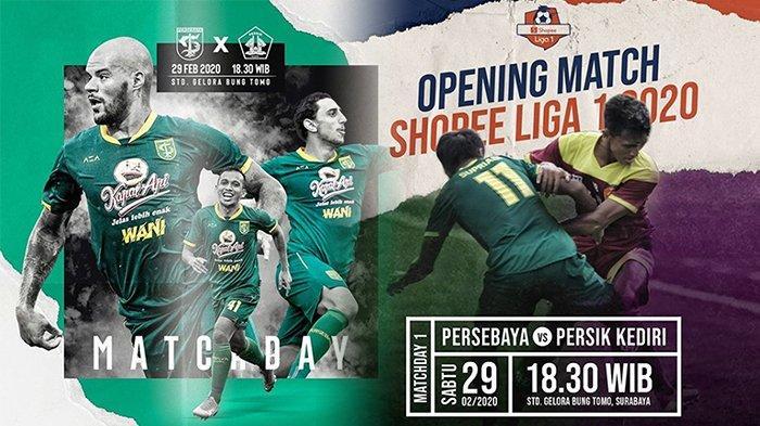 LIVE INDOSIAR Persebaya Vs Persik Kediri Liga 1, Potensi Kejutan Tim Promosi di Markas Bajul Ijo