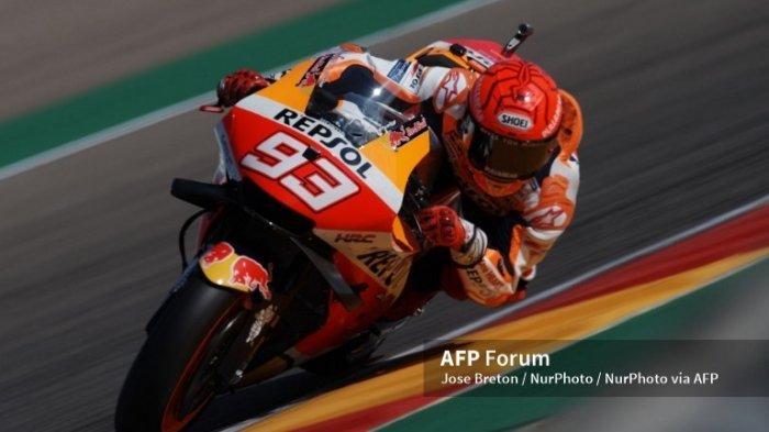 LIVE MotoGP Aragon 2021 Trans7 Sedang Berlangsung Sekarang, Marc Marquez Berjibaku
