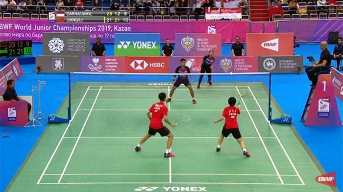 LIVE NOW, Set Penentuan Leo/Indah vs Wakil China - Streaming Semifinal Kejuaraan Dunia Junior 2019