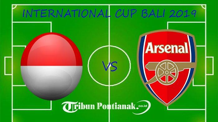 Live Streaming Indonesia Vs Arsenal International Cup Bali, Skor Indonesia Vs Arsenal 2-1 Menit 40'