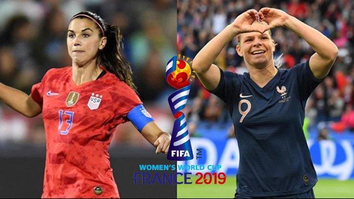 LIVE STREAM World Cup Women France Vs USA, Si Cantik Eugenie Le Sommer Vs Alex Morgan Jam 02.00 WIB