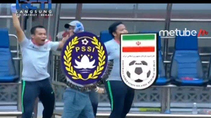 LIVE STREAMING Indonesia Vs Iran (Live Babak II), Aksi Beckham Bikin Pertahanan Iran Kocar-kacir
