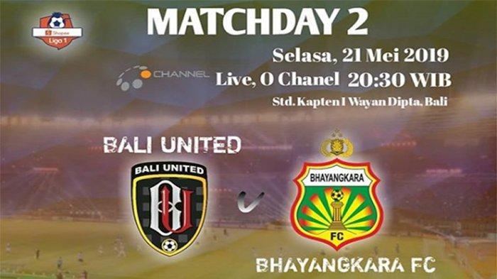 Sedang Tayang LIVE Streaming Bali United Vs Bhayangkara FC di Shopee Liga 1 2019, Skor Masih 0-0