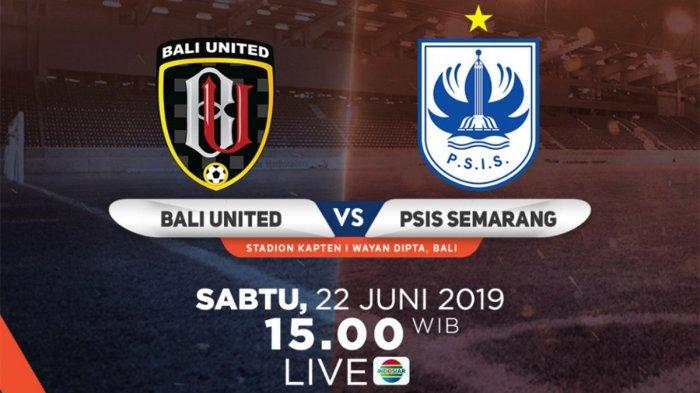 Link Live Streaming & Starting XI Bali United Vs PSIS Semarang Indosiar Pukul 15.30 WIB