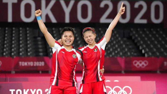 Live Streaming Bulu Tangkis Hari Ini Perebutan Medali Emas Ganda Putri Rahayu/Polii vs Chen/Jia