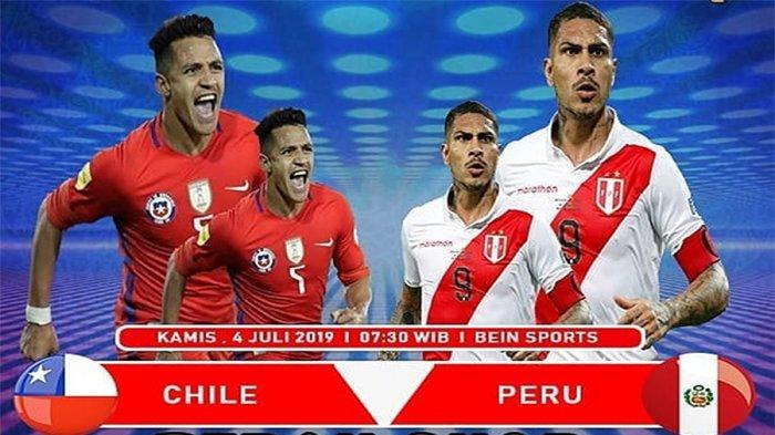 LIVE Streaming Chile Vs Peru Semifinal Copa America 2019 Jam 07.30 WIB, Penentu Lawan Brasil