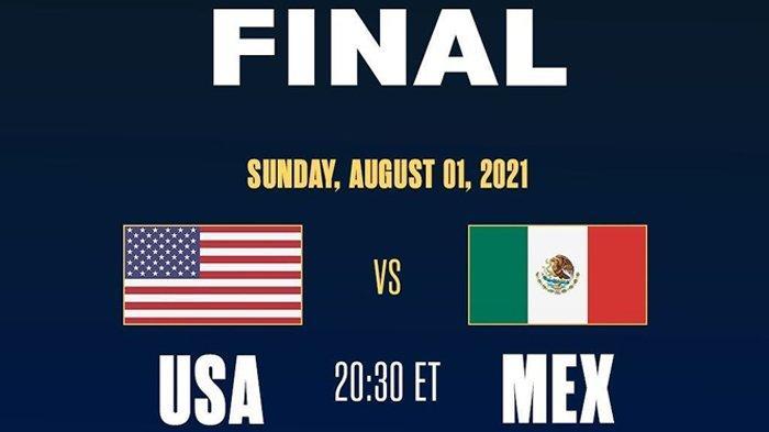 Live Streaming Final Piala Emas CONCACAF 2021 Amerika Serikat vs Meksiko