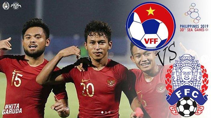 LIVE STREAMING Kamboja Vs Myanmar, Pembuka Final BolaSEA Games Filipina Indonesia Vs Vietnam
