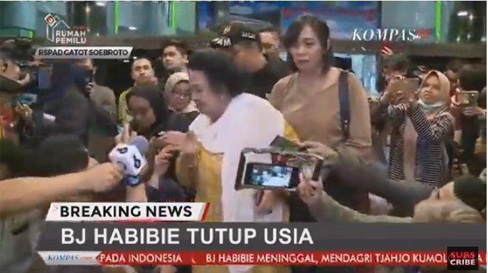 Live Streaming Kompas TV! Suasana Terkini BJ Habibie Meninggal Dunia